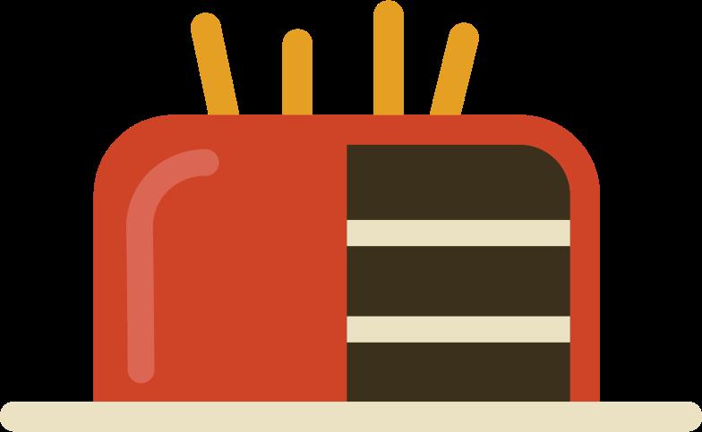 Ilustración de clipart de birthday cake with candles en PNG, SVG