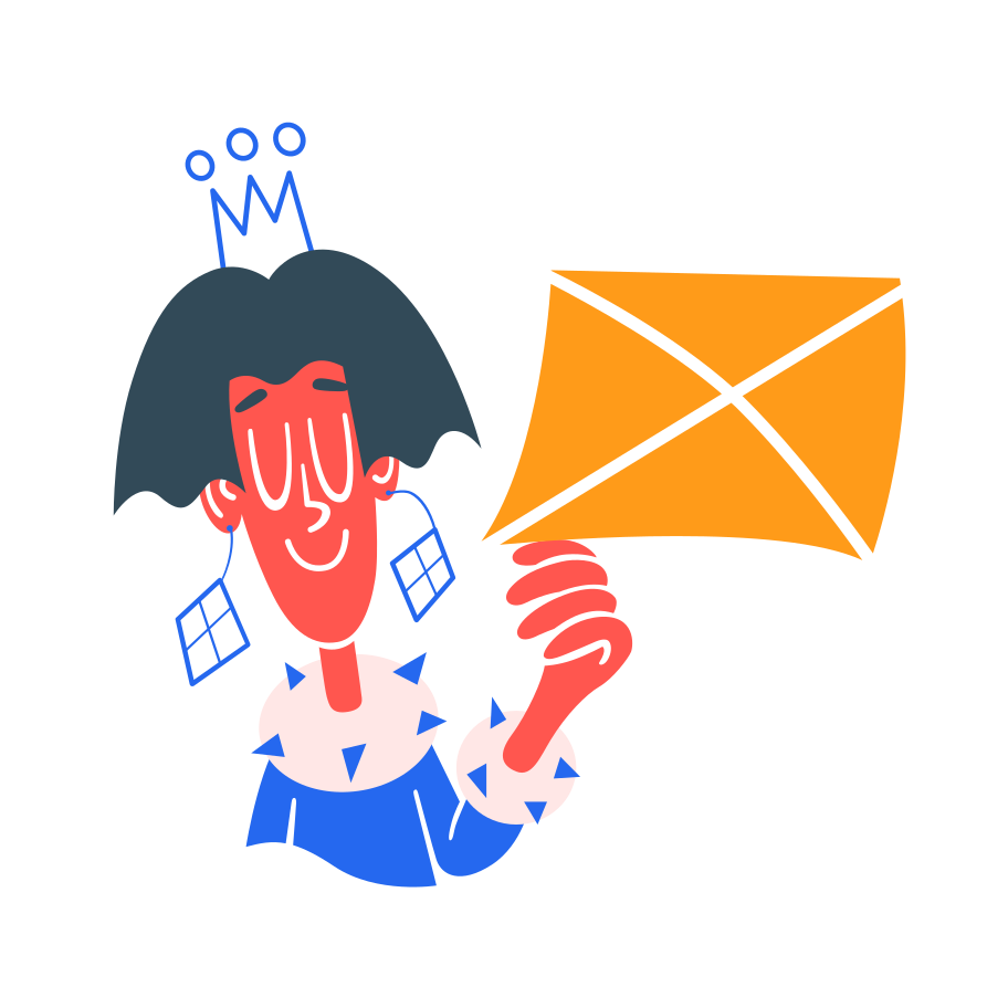 Receiving a letter Clipart illustration in PNG, SVG