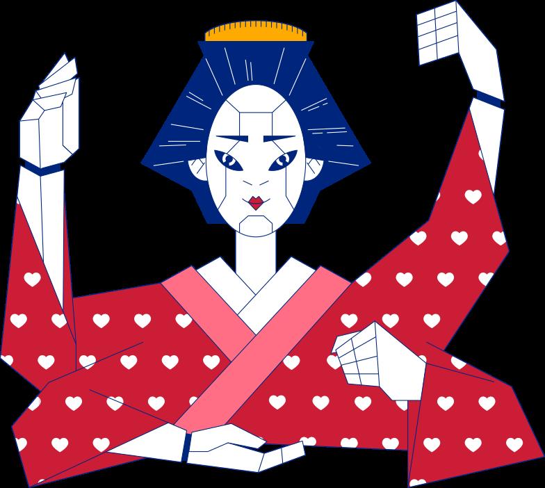 geisha Clipart illustration in PNG, SVG