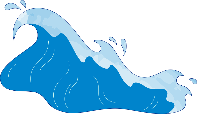sea wave Clipart illustration in PNG, SVG
