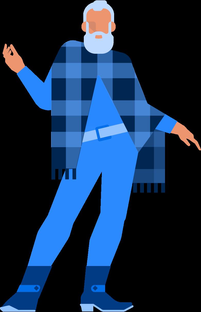 Ilustración de clipart de santa hipster en PNG, SVG