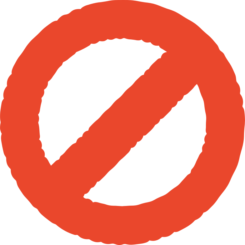 prohibition sign Clipart illustration in PNG, SVG