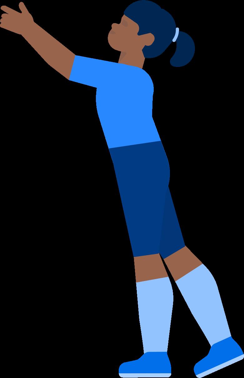 Menina com a mão levantada Clipart illustration in PNG, SVG