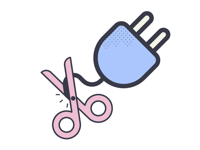 Connection is interrupted Clipart illustration in PNG, SVG