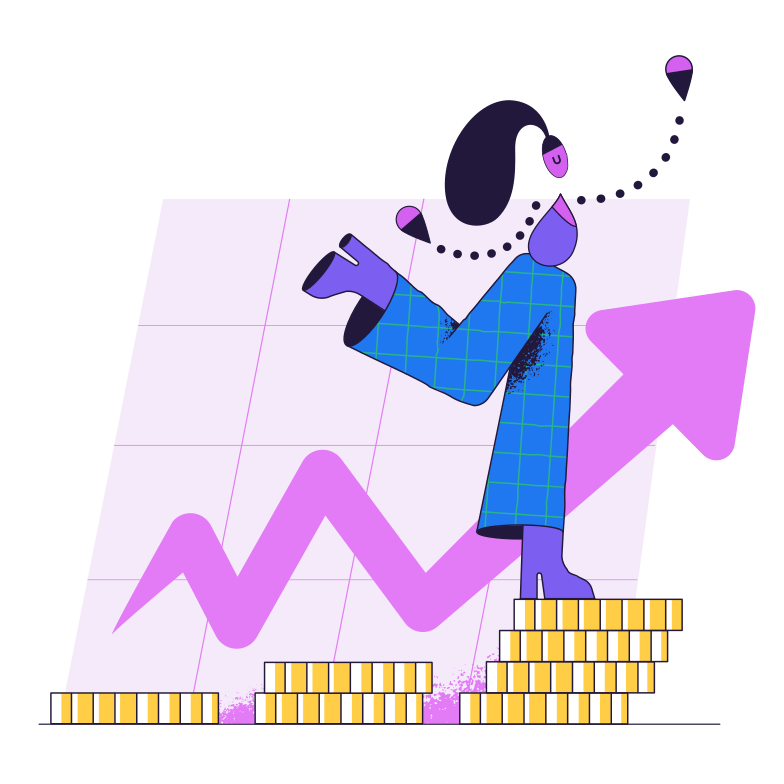 Finance growth Clipart illustration in PNG, SVG