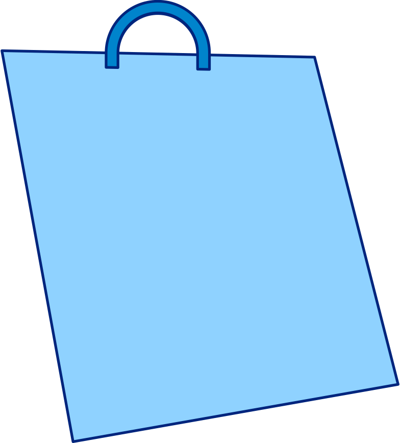 style shopping bag blue Vector images in PNG and SVG | Icons8 Illustrations