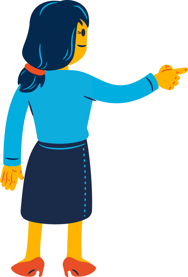 style woman pointing with her finger Vector images in PNG and SVG   Icons8 Illustrations