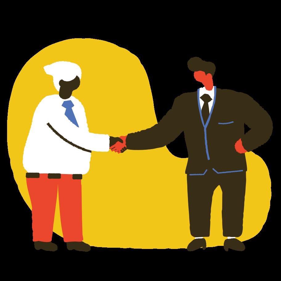 Partnership Clipart illustration in PNG, SVG