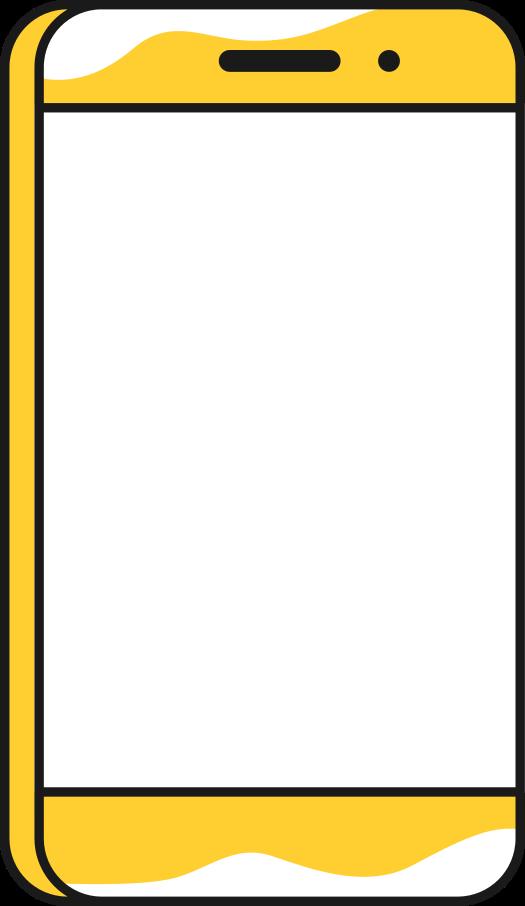 big smartphone Clipart illustration in PNG, SVG