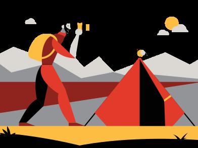 Иллюстрация Путешествие в стиле  в PNG и SVG | Icons8 Иллюстрации