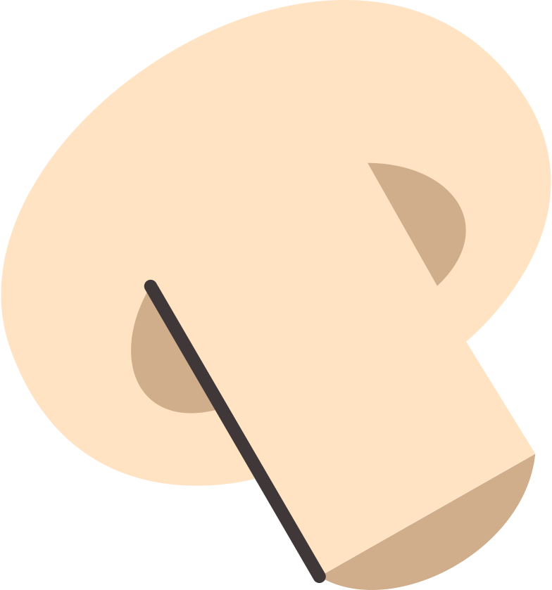 half a mushroom Clipart illustration in PNG, SVG