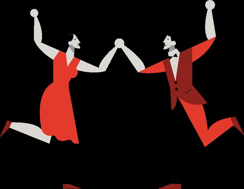 dance people Clipart illustration in PNG, SVG