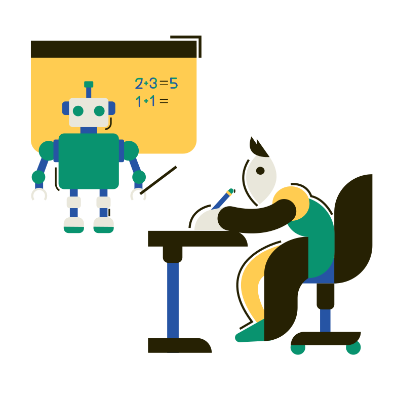 style Robot teacher Vector images in PNG and SVG | Icons8 Illustrations