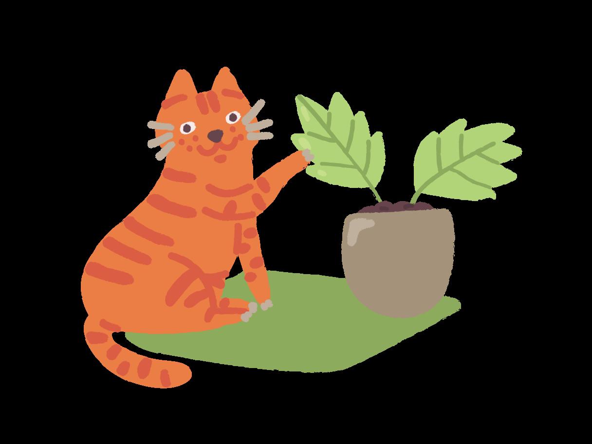 gardener cat Clipart illustration in PNG, SVG
