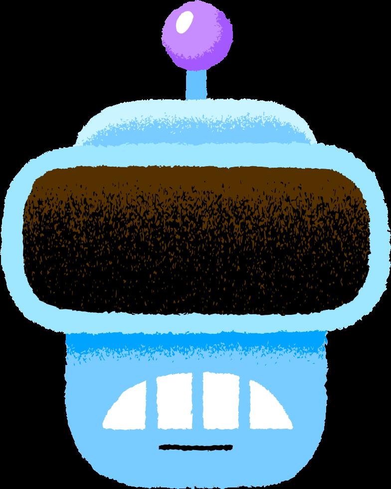 robot sad face Clipart illustration in PNG, SVG