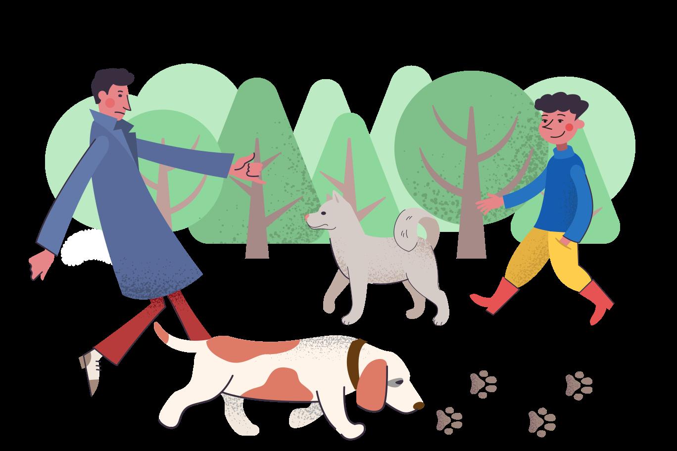 Dog park Clipart illustration in PNG, SVG