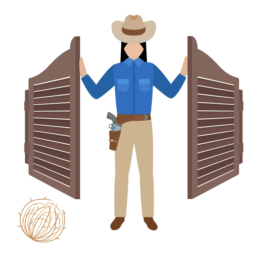 Sheriff on duty  Clipart illustration in PNG, SVG