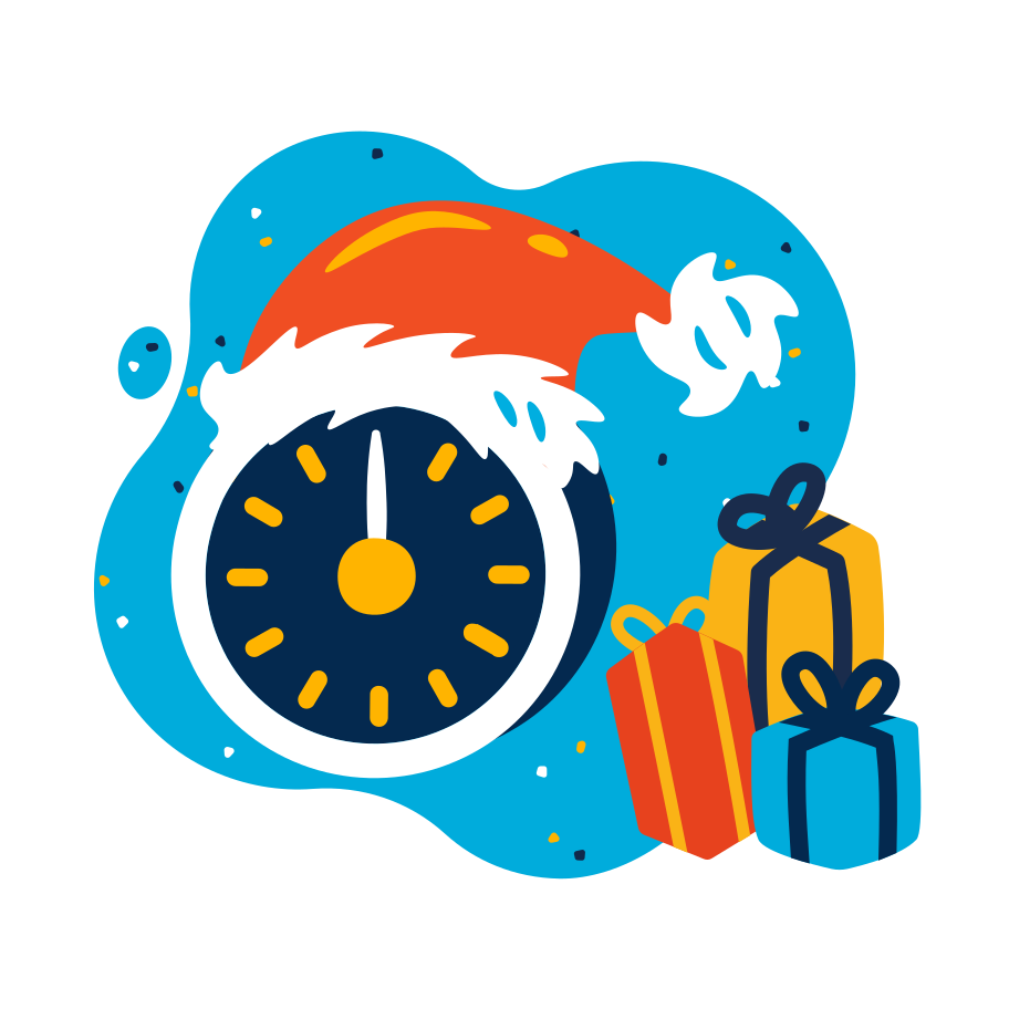 Christmas midnight Clipart illustration in PNG, SVG
