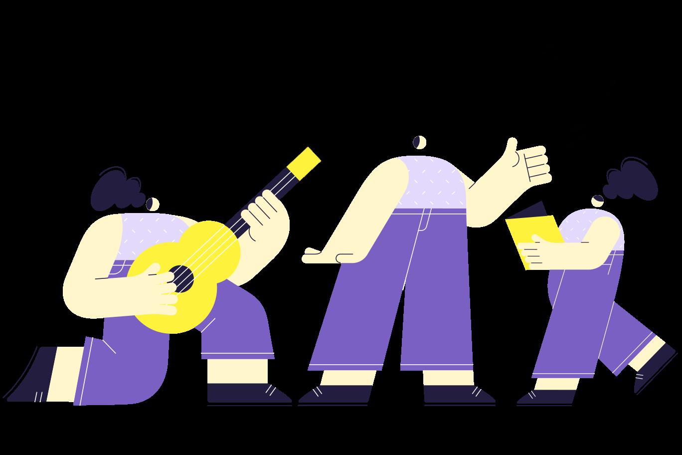 Family concert Clipart illustration in PNG, SVG