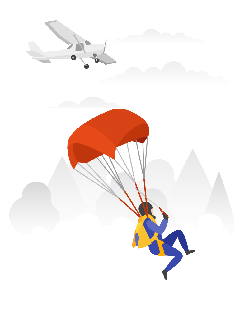 style Parachutist Vector images in PNG and SVG | Icons8 Illustrations