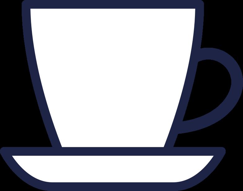cup of tea line Clipart illustration in PNG, SVG