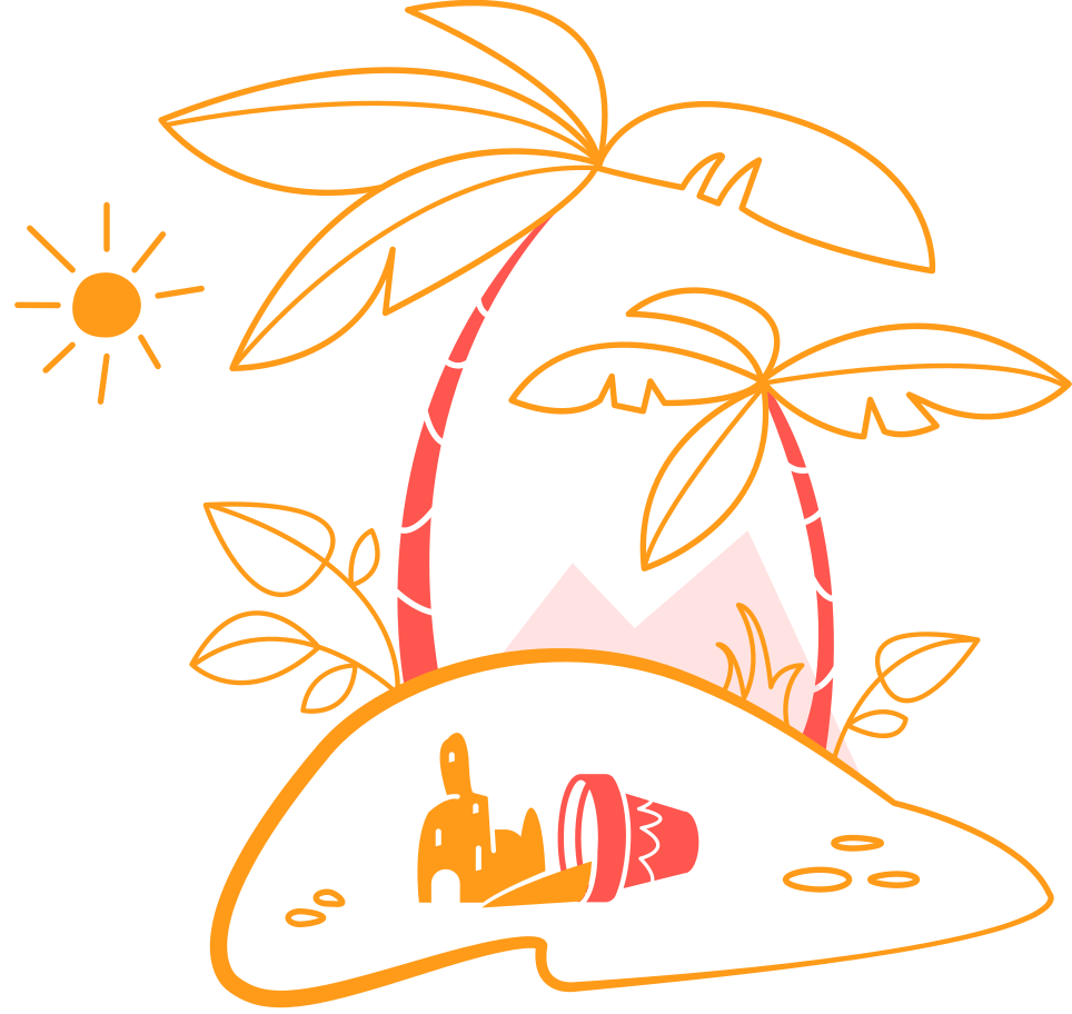 beach Clipart illustration in PNG, SVG
