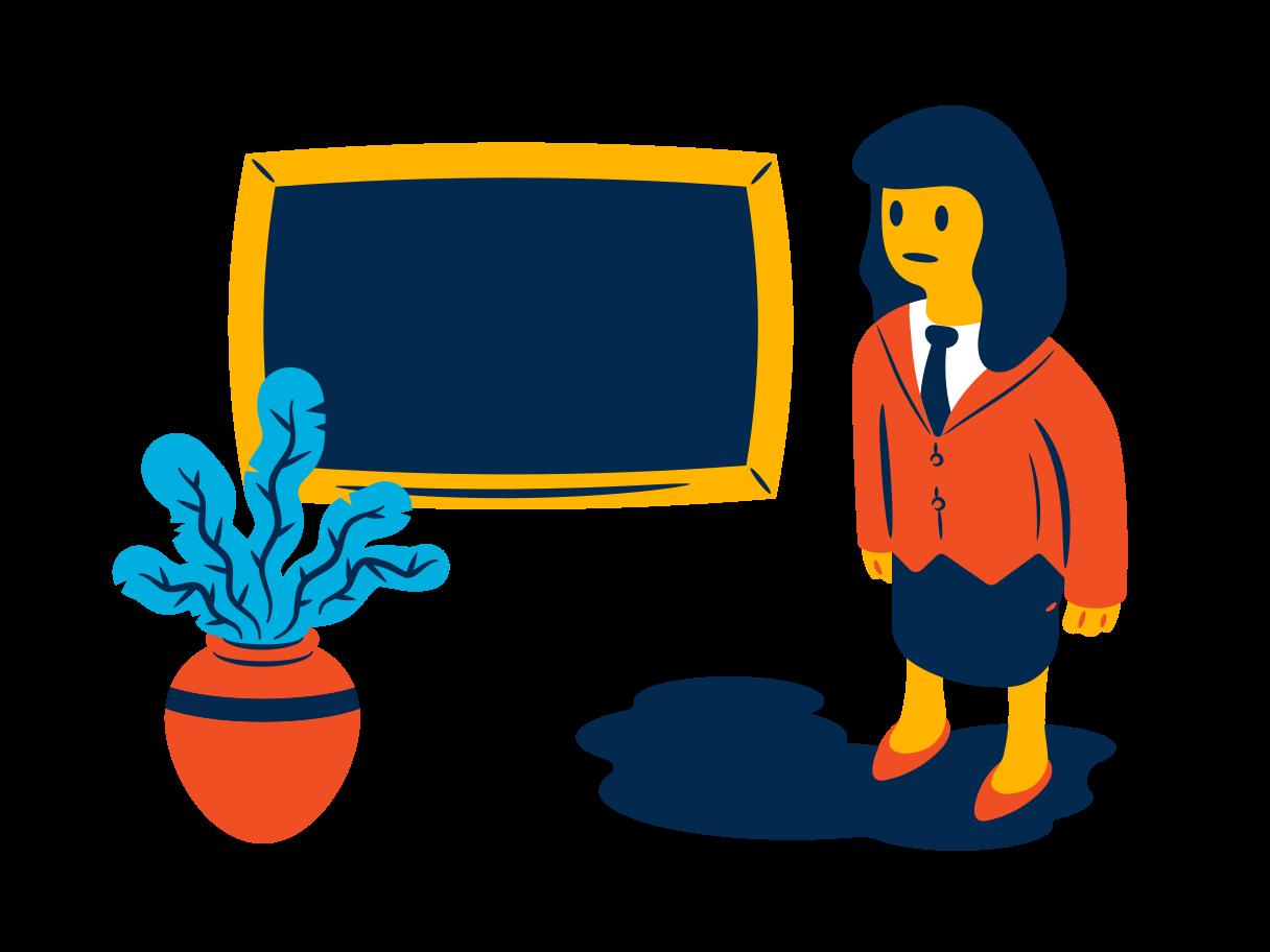 School teacher Clipart illustration in PNG, SVG