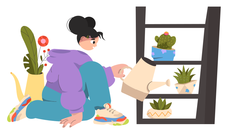 style Watering houseplants Vector images in PNG and SVG | Icons8 Illustrations