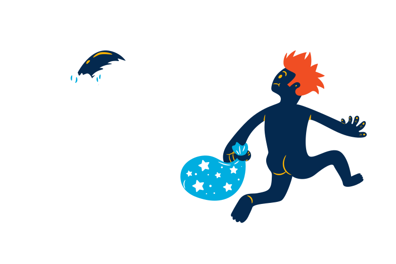 Christmas thief Clipart illustration in PNG, SVG