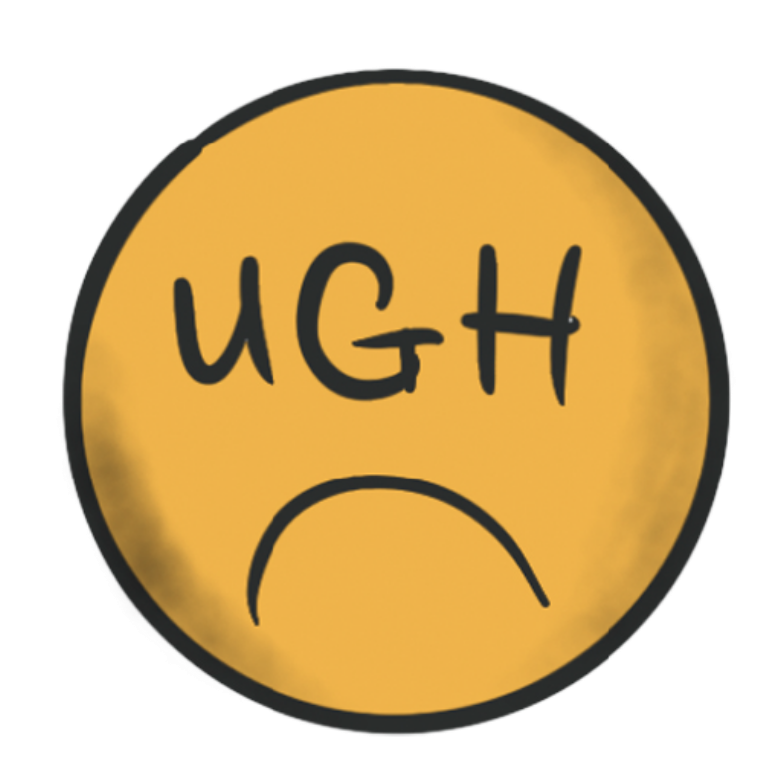 ugh smile Clipart illustration in PNG, SVG