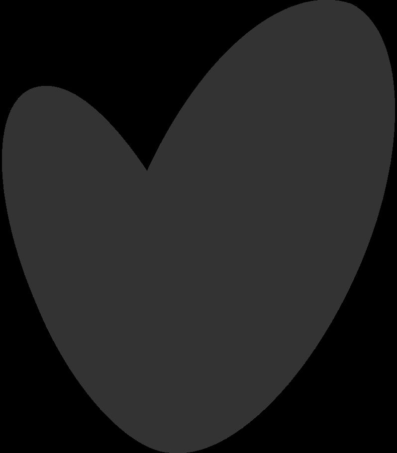 Ilustración de clipart de Corazon negro en PNG, SVG