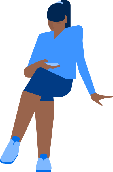 style woman with phone images in PNG and SVG | Icons8 Illustrations