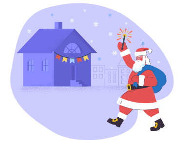 style Santa on Christmas eve  images in PNG and SVG | Icons8 Illustrations