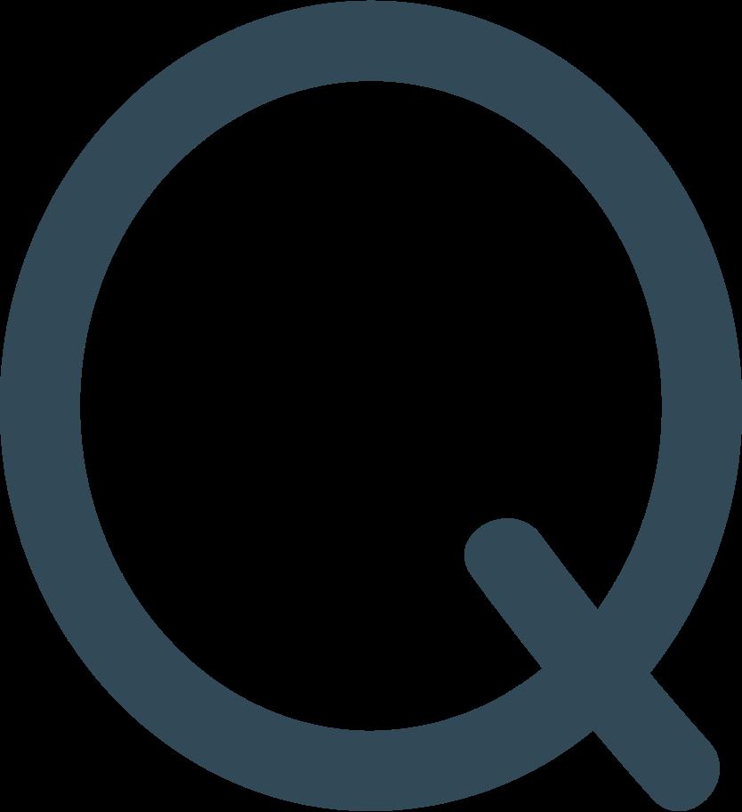 q dark blue Clipart illustration in PNG, SVG