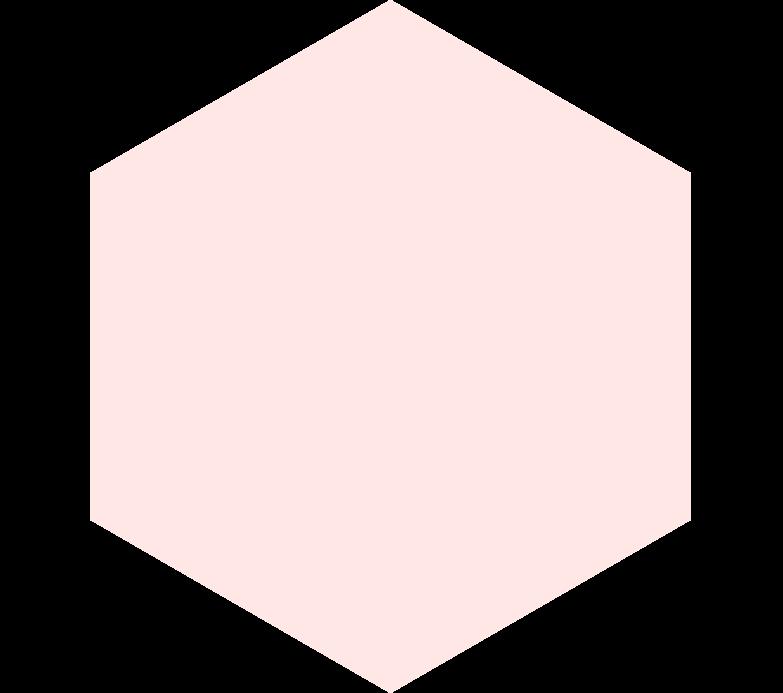 Sechseck beige Clipart-Grafik als PNG, SVG