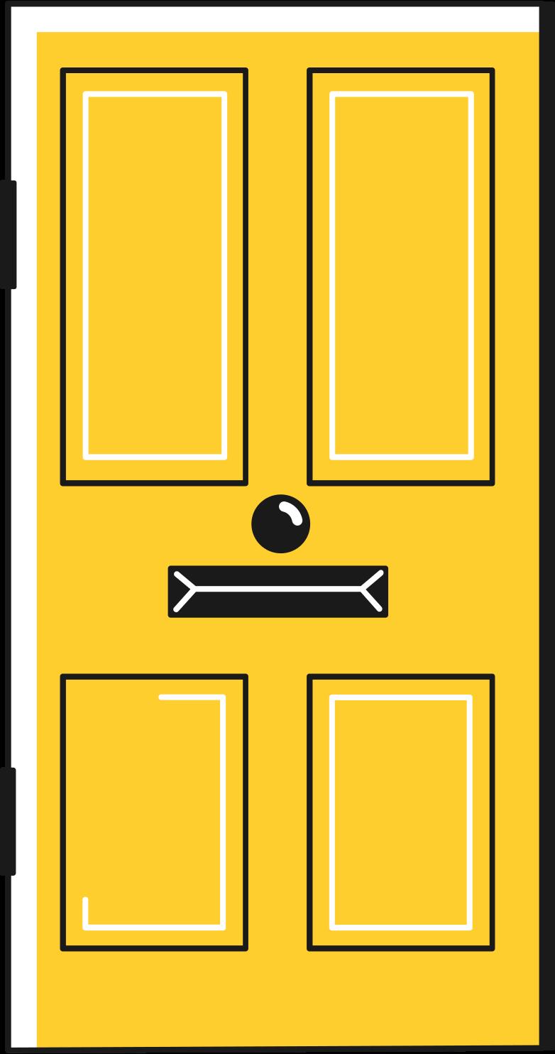 Ilustración de clipart de door en PNG, SVG