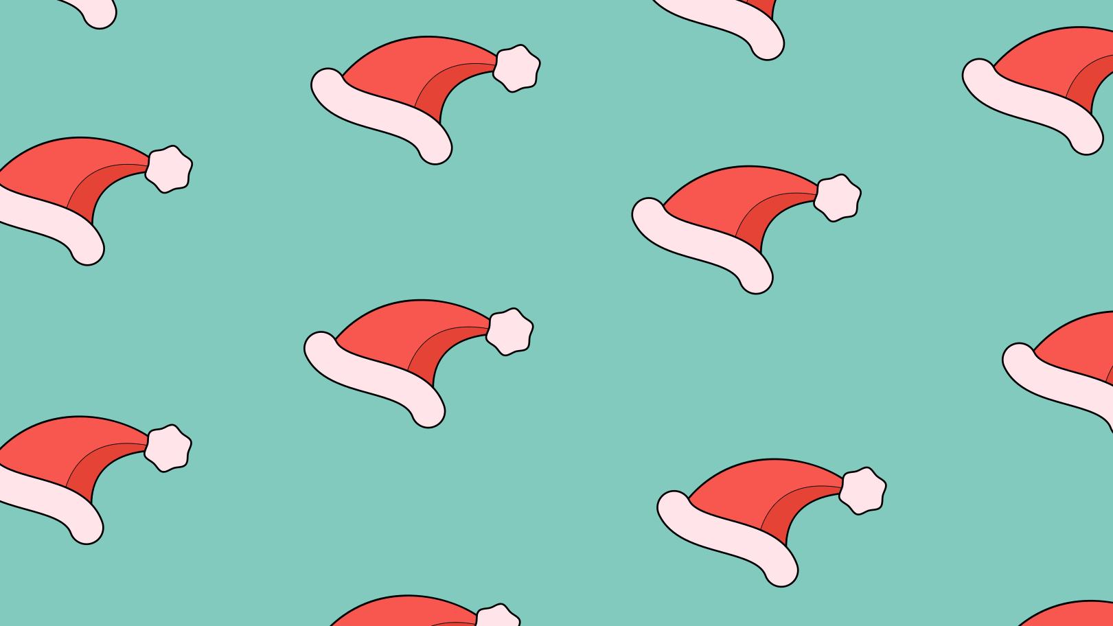 Santa hats Clipart illustration in PNG, SVG