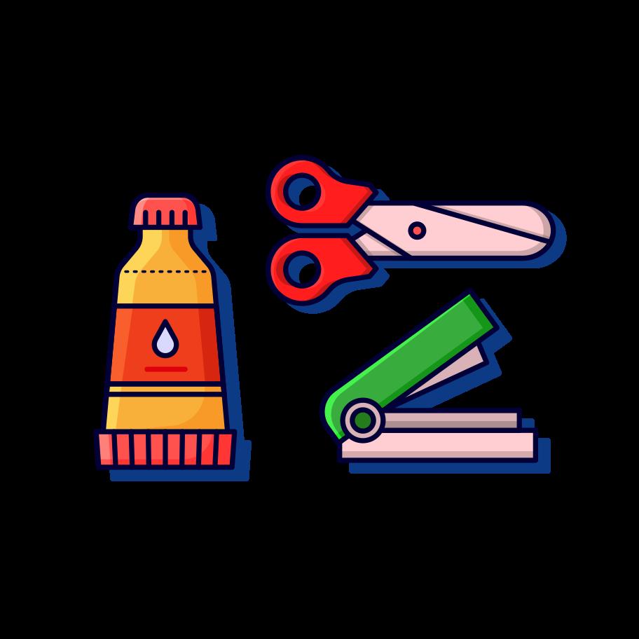 Stationary set Clipart illustration in PNG, SVG