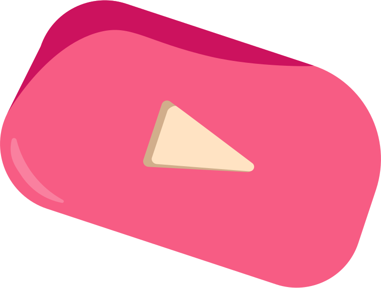 Youtube button Clipart illustration in PNG, SVG