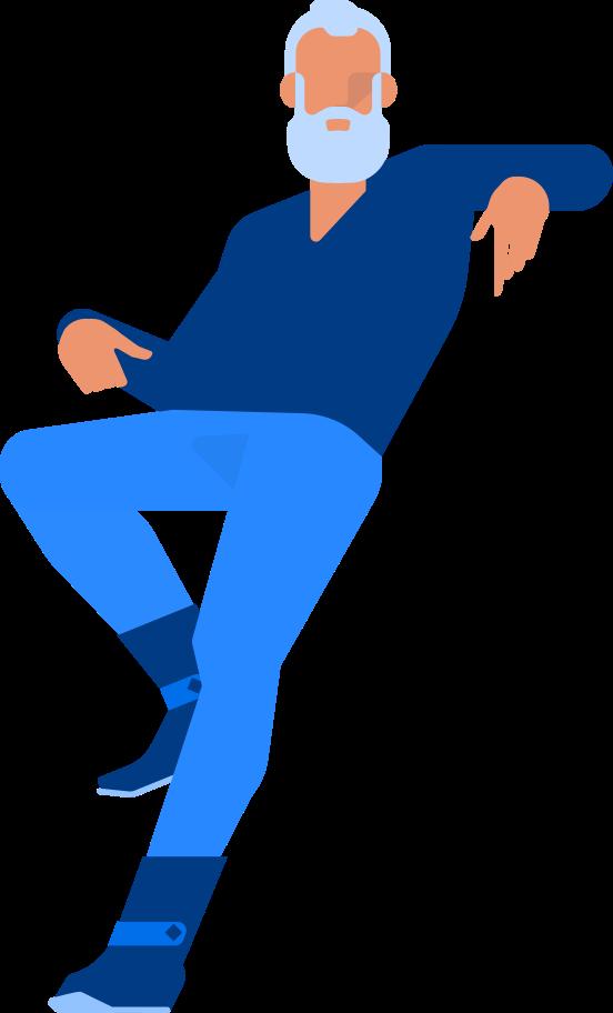 old man hipster Clipart illustration in PNG, SVG