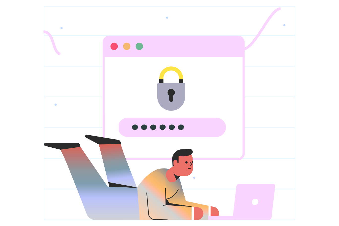 Sicheres passwort Clipart-Grafik als PNG, SVG