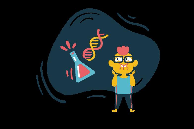 Chemistry nerd Clipart illustration in PNG, SVG