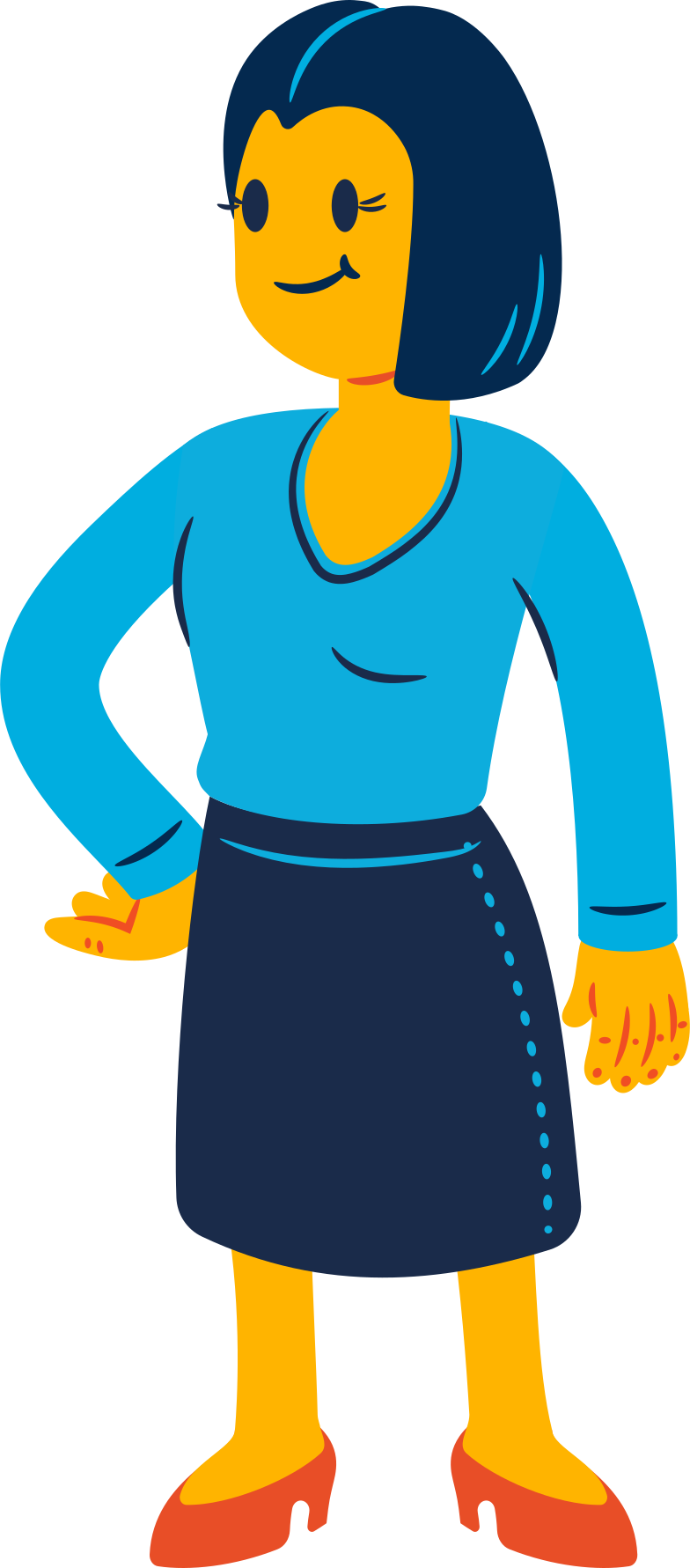 confident woman Clipart illustration in PNG, SVG