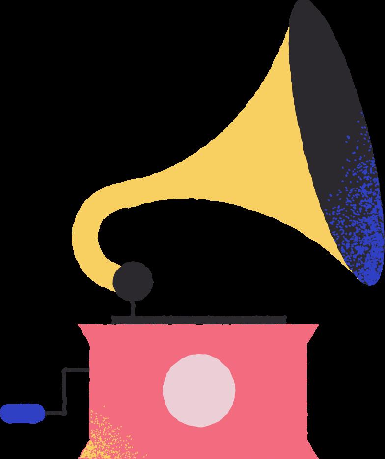 Ilustración de clipart de gramophone en PNG, SVG