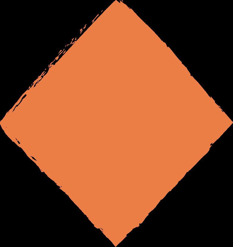 Raute-orange Clipart-Grafik als PNG, SVG