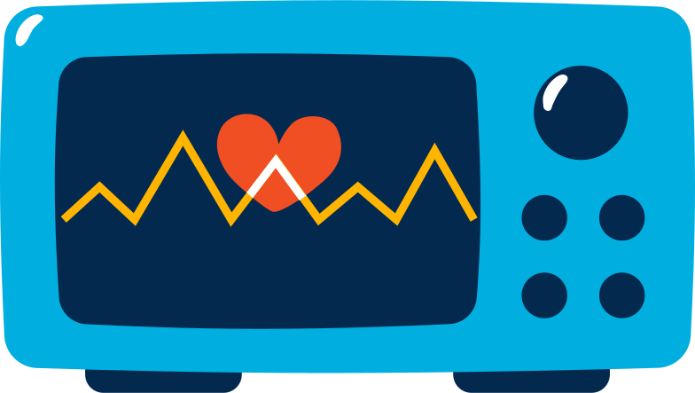heart monitor Clipart illustration in PNG, SVG