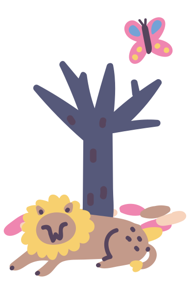 style löwe ruht unter dem baum images in PNG and SVG | Icons8 Illustrations