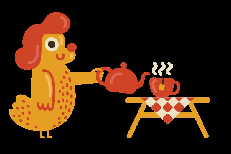 Tea time Clipart illustration in PNG, SVG