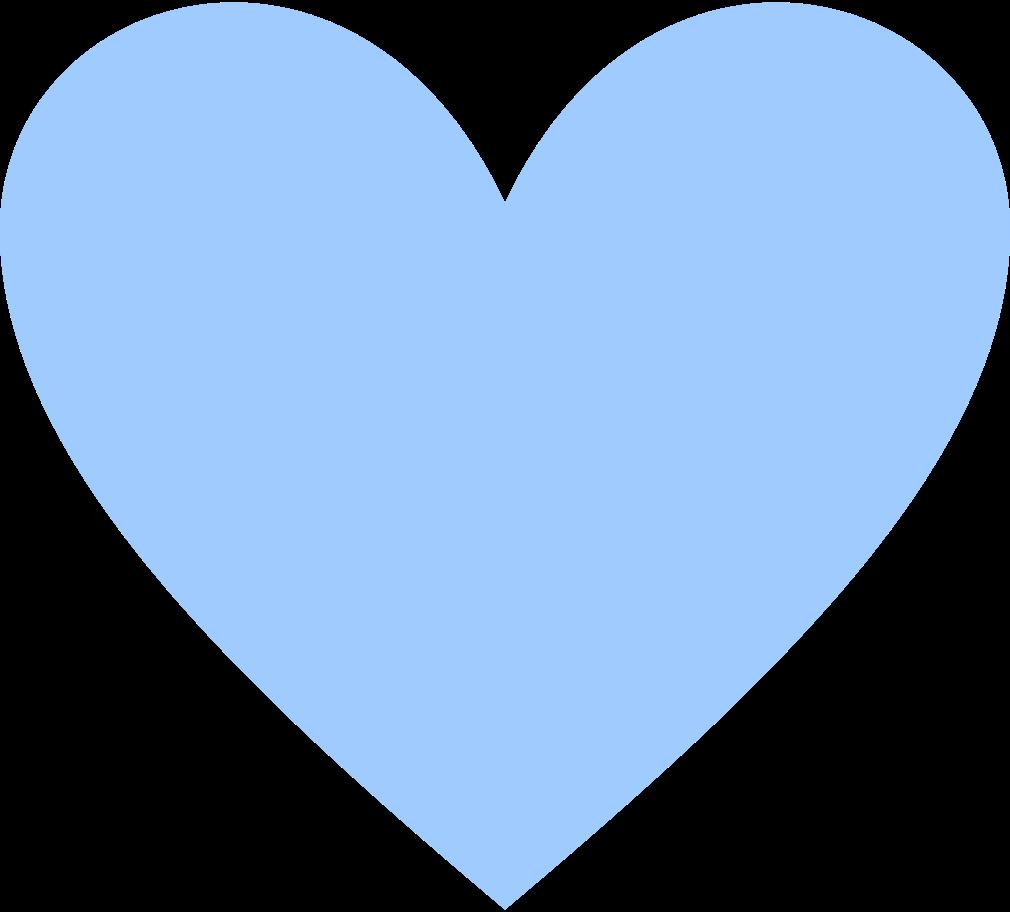 heart-light-blue Clipart illustration in PNG, SVG