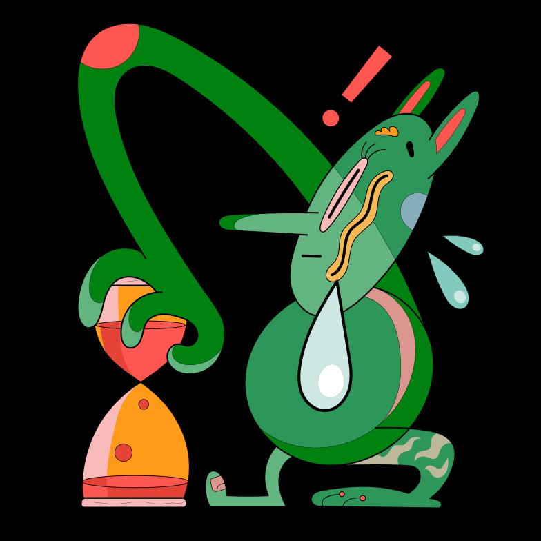 Waste of time Clipart illustration in PNG, SVG